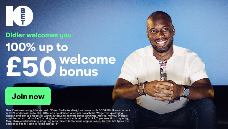 10bet Welcome Bonus and Didier Drogba Joins the Team