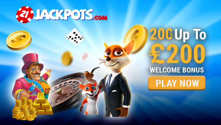 Exclusive OCR Welcome Offer at 21 Jackpots Casino