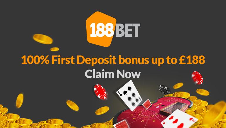 OCR Readers Get an Exclusive £188 Bonus at 188BET Casino