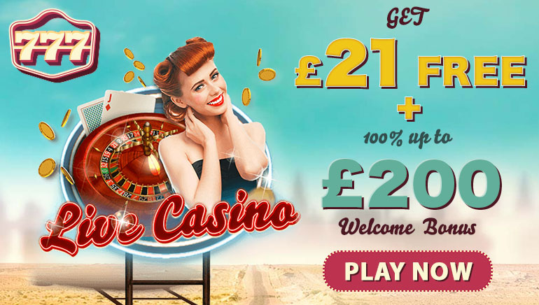 UK Players Get £21 Free at 777 Casino