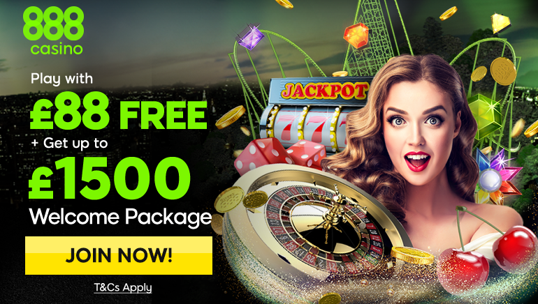 £88 Free And £1,500 In New Player Bonuses At 888 Casino