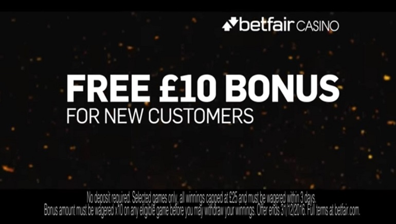 New TV Ad by Betfair Featuring £10 No Deposit Promo for UK Players