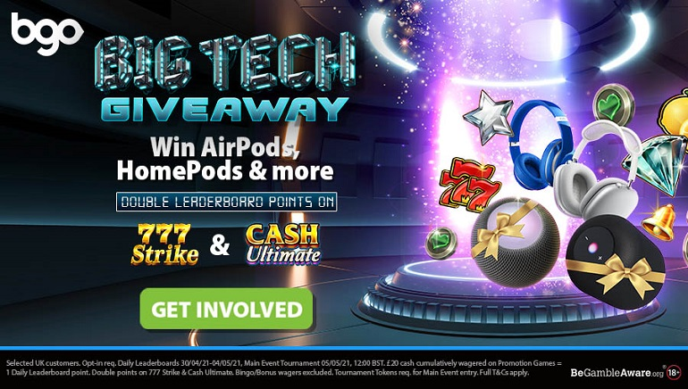 bgo Casino Running Big Tech Giveaway