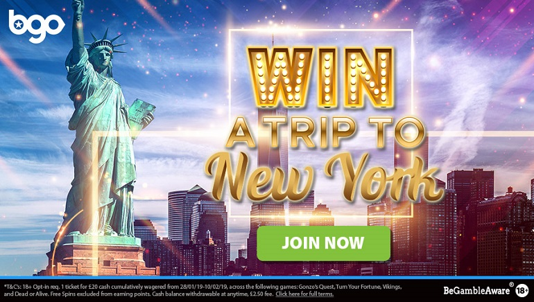 bgo Casino Giving Away NYC Holiday and Cash