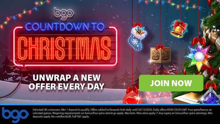 Xmas Countdown Offers to Claim at bgo Casino