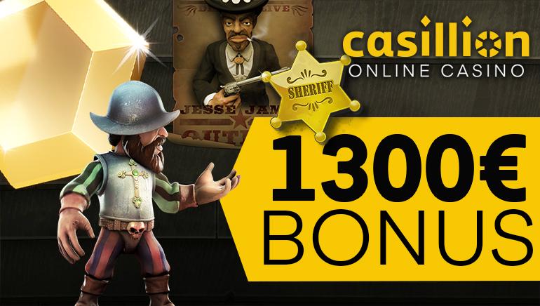 Start Big with Casillion Casino's Massive €1,300 Welcome Bonus