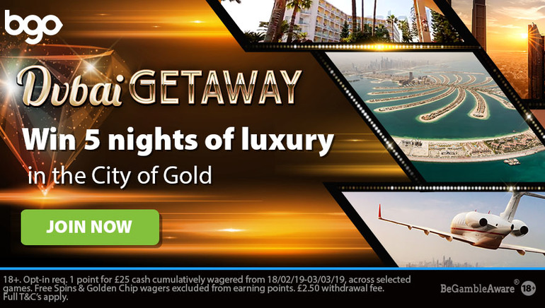 bgo Casino Giving Away Dubai Holiday