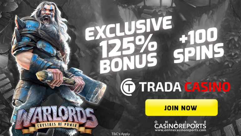 Exclusive Bonus Offer and Free Spins At Trada Casino