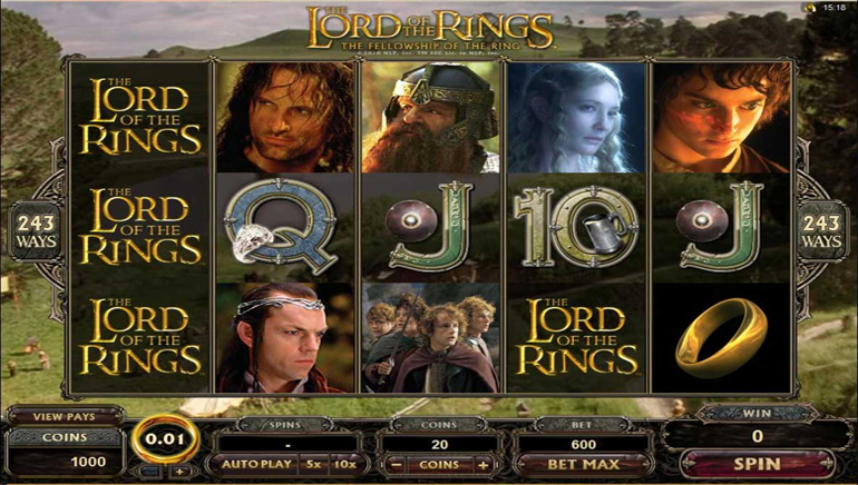 Lord of the Rings Video Slot Coming Soon