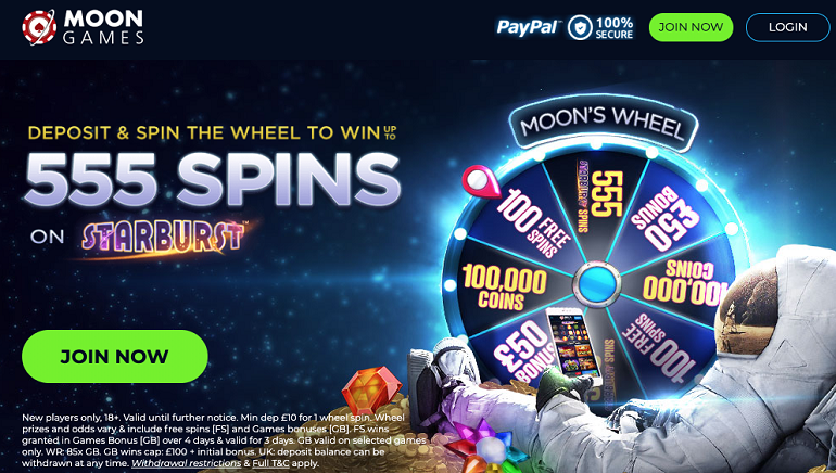 Moon Games Casino Launches New UK Welcome Offer
