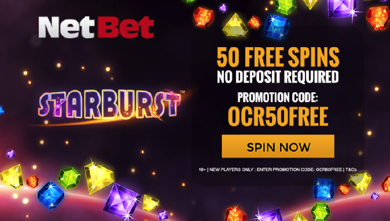 Get 50 Starburst Freespins At NetBet Casino