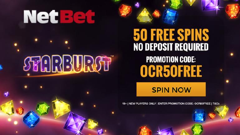Get 50 Starburst Freespins At NetBet Casino