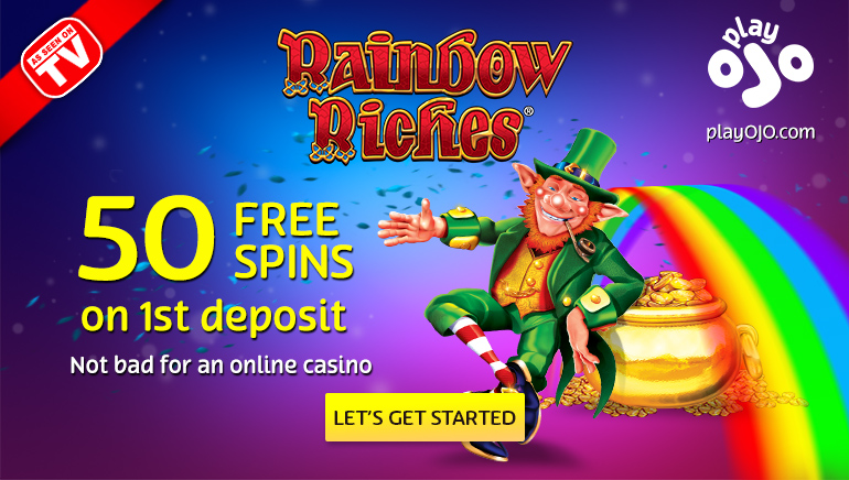 Claim 50 Free Spins on Rainbow Riches at PlayOJO Casino