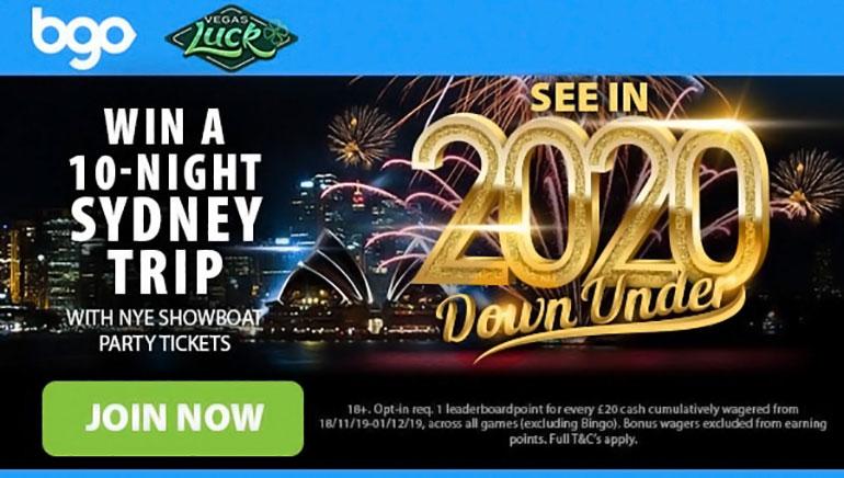 bgo Casino Giving Away NYE 2020 Holiday to Sydney