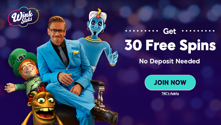 Try Out Wink Slots' Excellent 30 No-Deposit Free Spins Offer