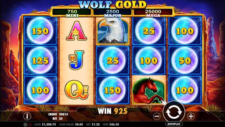Trada Casino Giving New Players 10 Spins on Wolf Gold Slot