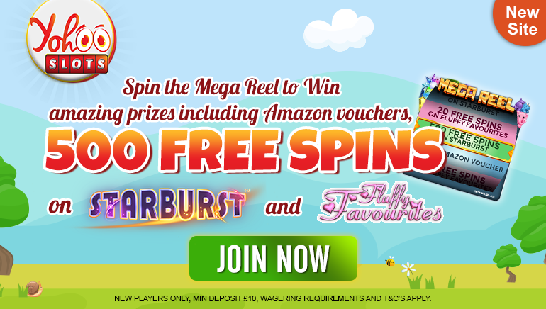 Spin the Mega Reel & Start Your Yohoo Slots Adventure With up to 500 Free Spins